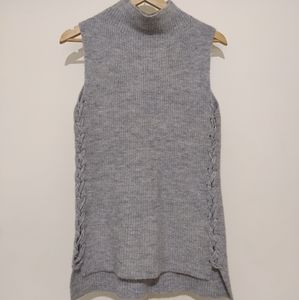 Seed Heritage size S grey jumper vest wool mohair